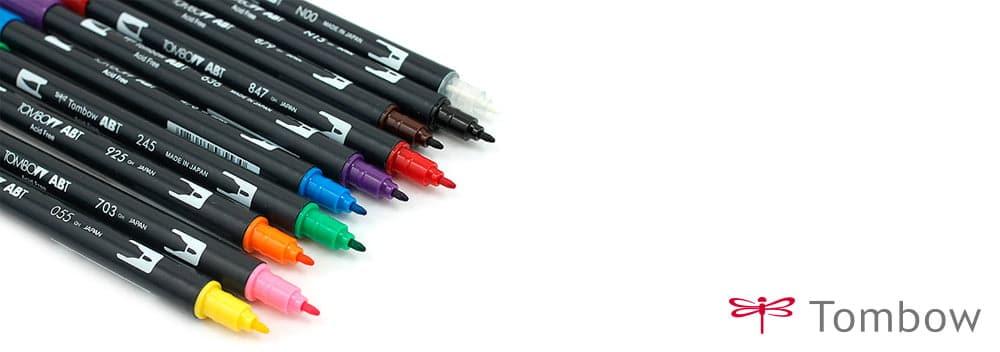 Caixa Com Marcadores Tombow ABTC Pedrada Tattoo Supplies - Tombow abt