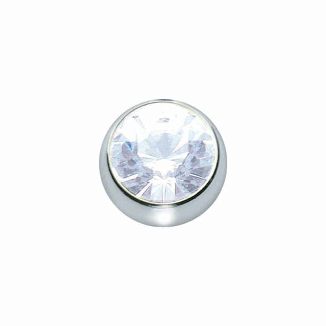 Straight Nose Stud  - 5 unidades - diametro-1mm - cristal