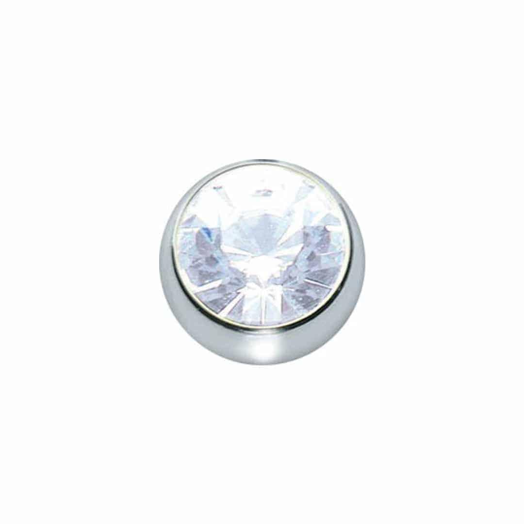 Straight Nose Stud  - 5 unidades - diametro-1mm - cristal
