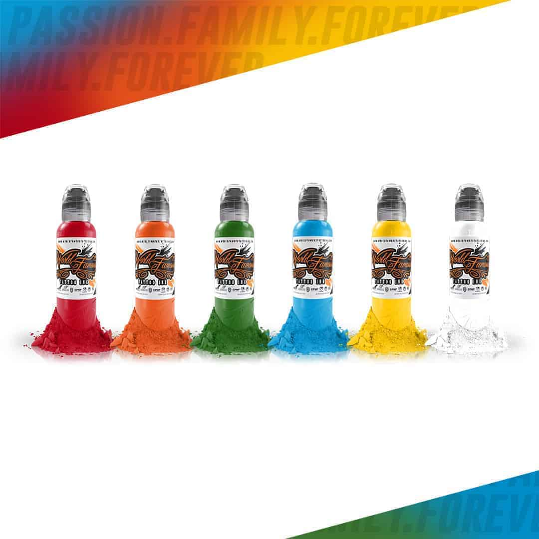 World Famous Tattoo Ink Simple Color Set 6x30ml